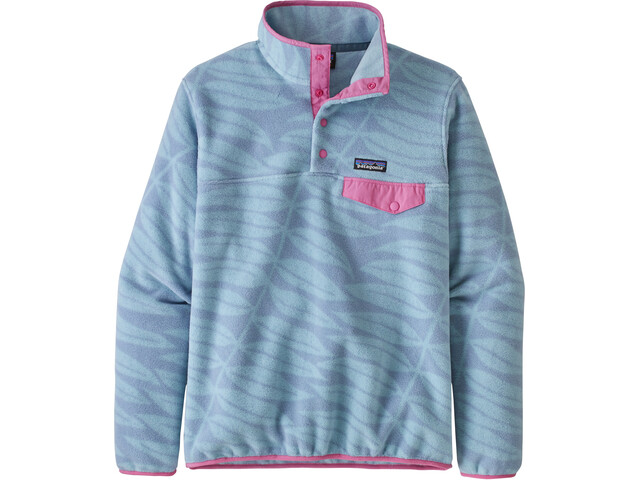 Patagonia Lightweight Synchilla Snap-T Pull Femme, eucalyptus fronds/berlin blue